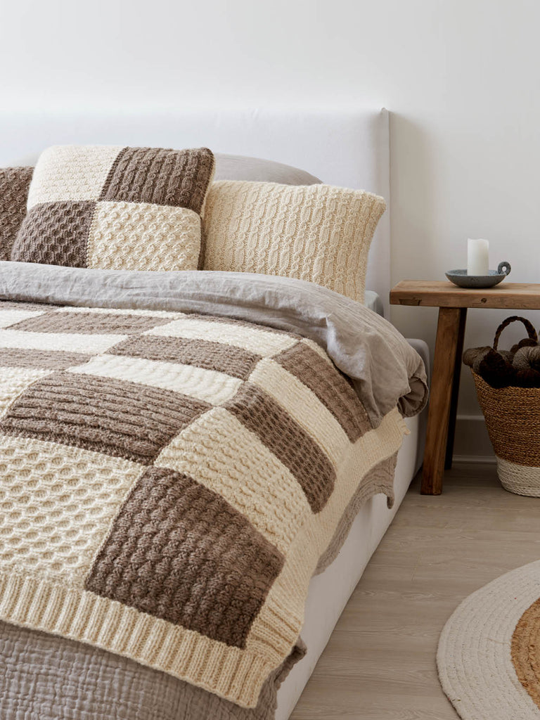 Patchwork Blanket and Cushions