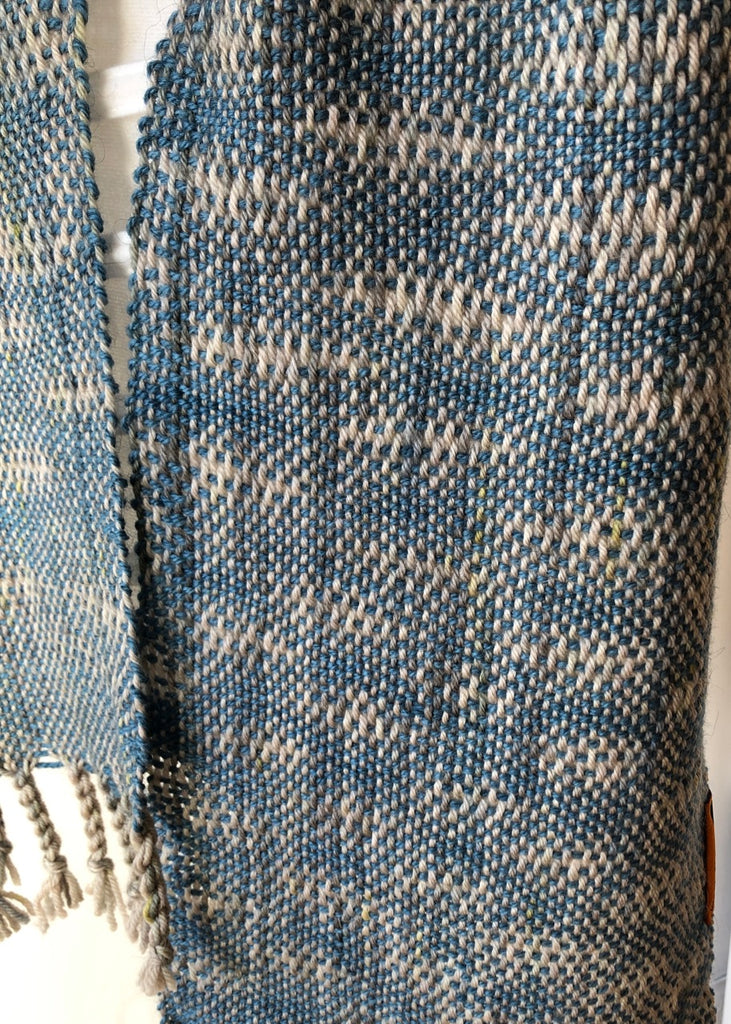 Undulating Sky Scarf  Handwoven by Weft Blown