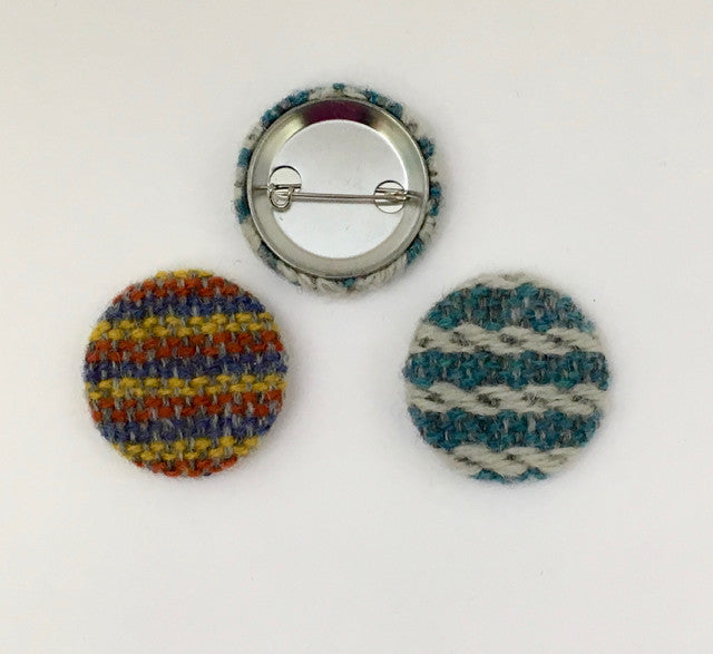 Small handwoven badge by Weft Blown
