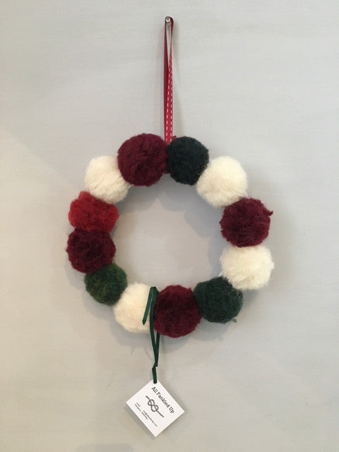 Red, White and Green Wreath by Fankled Up