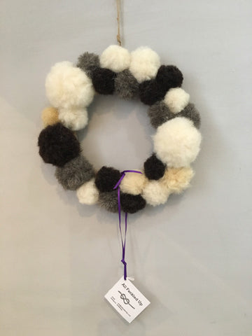Alternative Pom Pom Wreath by Fankled Up