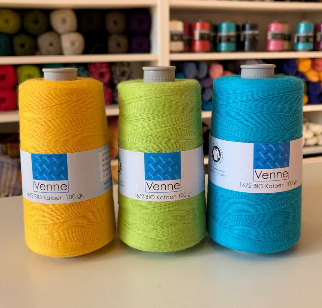 Venne 16/2 Unmercerised Organic Cotton 50g