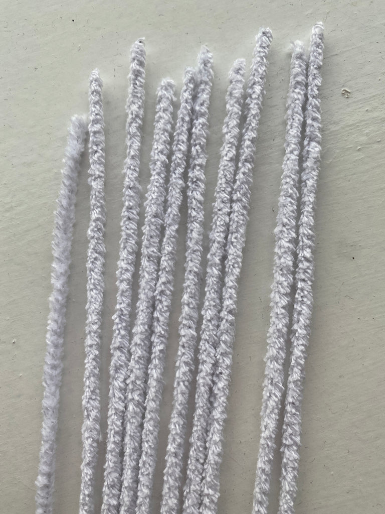 Pipe Cleaners Pack of 10 - White