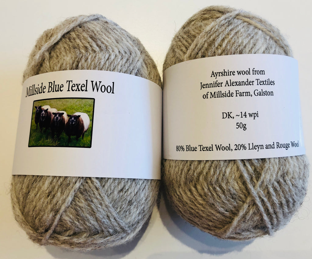 Millside Blue Texel Wool - Pale Grey 50g
