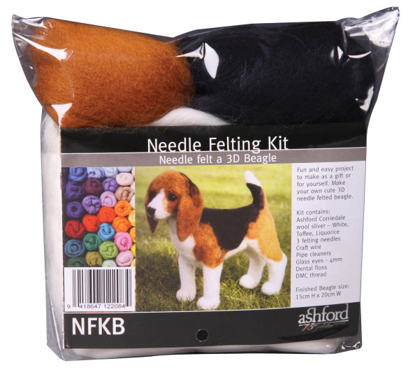 Ashford Needle Felting Kit - Beagle