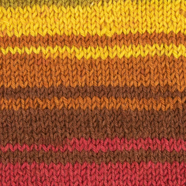 Autumn Leaves Knitted Swatch