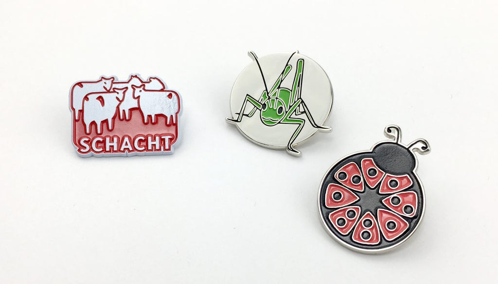 Schacht Enamel Pins at Weft Blown