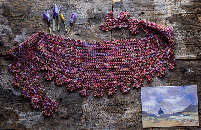 Your Mileage May Vary Shawl by Joanne Scrace