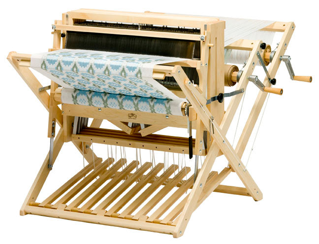 Schacht Baby Wolf Loom folded with optional Double Back Beam