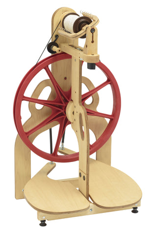 Louët S10 Concept Spinning Wheel - 5-spokes Double Treadle Scotch Tension - 15% Off Summer Offer