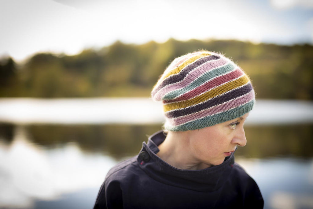 Striped Sampler Hat