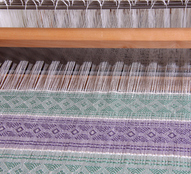 Cloth Handwoven on an Ashford 16 Shaft Table Loom