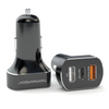 SmartDrive+ 3.0 Quick Charging 3-Port USB Car Charger with USB-C