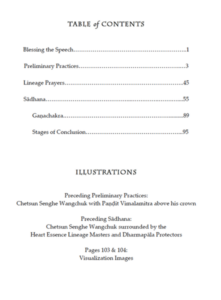 Chetsun Nyingtig Liturgy ~ Digital Practice Text