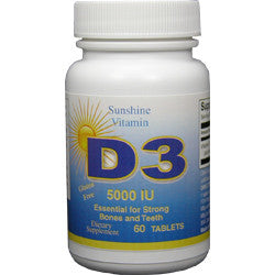 VITAMIN D-3 5000 IU  60 Tablets