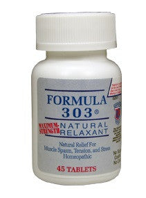 FORMULA 303 ® Natural Relaxant Natural Relief For Muscle Spasm, Tension and Stress 45 Tablets
