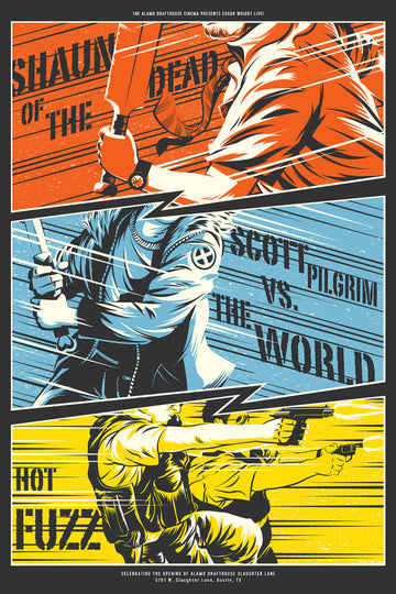 SHAUN OF THE DEAD, SCOTT PILGRIM VS THE WORLD, HOT FUZZ