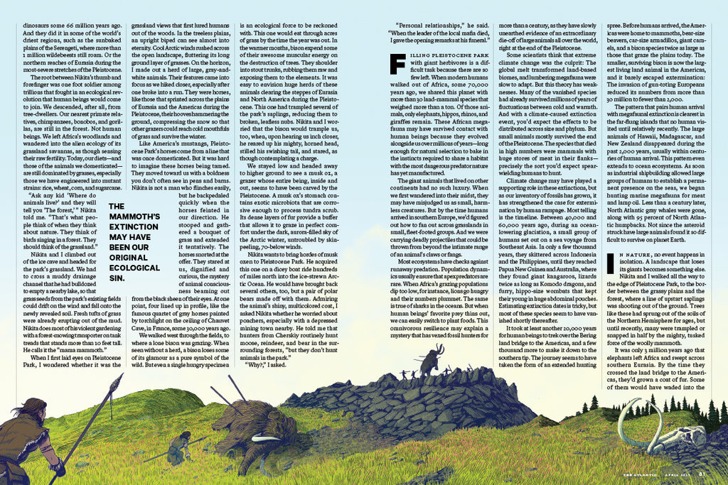 """PLEISTOCENE PARK"" for THE ATLANTIC (Spread Four)"