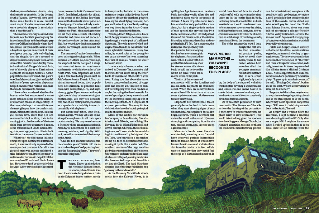 """PLEISTOCENE PARK"" for THE ATLANTIC (Spread Five)"
