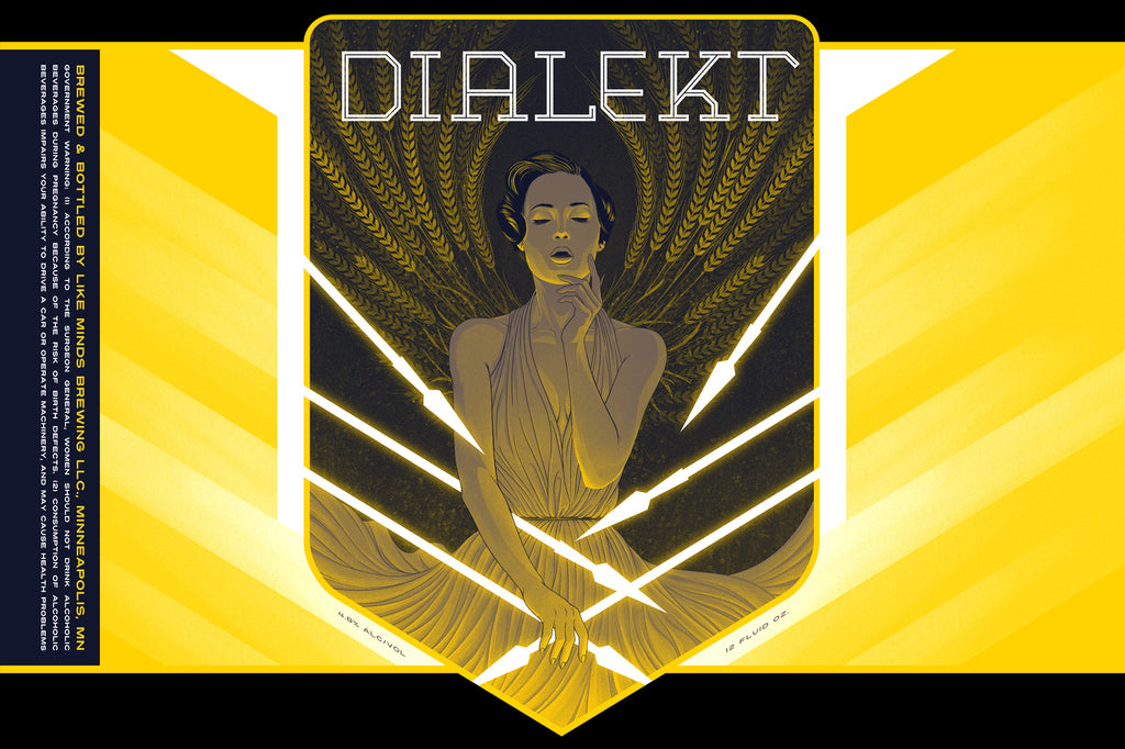 """DIALEKT Kolsch"" Beer Label Illustration for LIKE MINDS BREWERY"