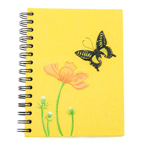 Ellie Pooh Notebook - Butterfly Yellow