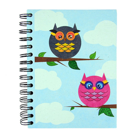 Ellie Pooh Notebook - Owls
