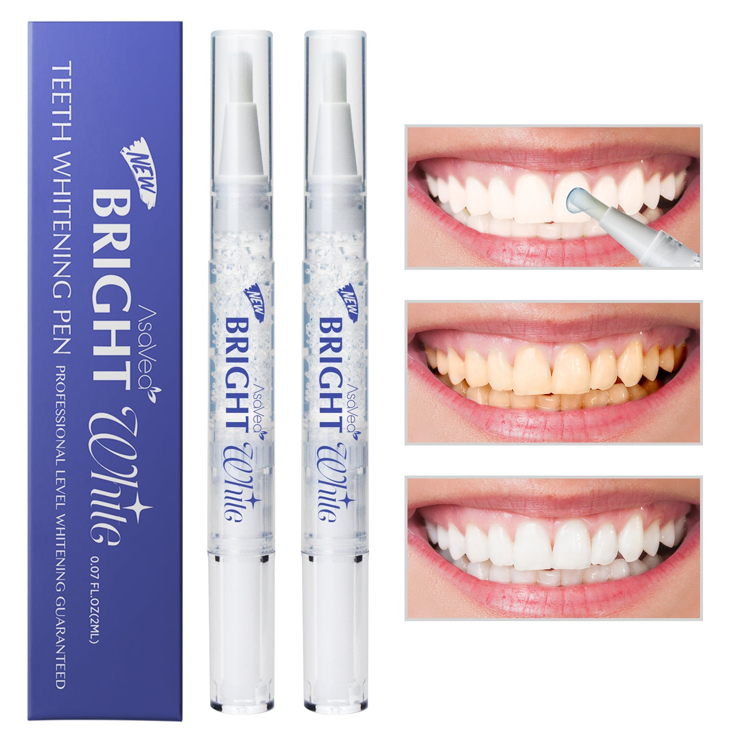 Asavea Teeth Whitening Pen 2 Pens More Than 20 Uses Effective Pain