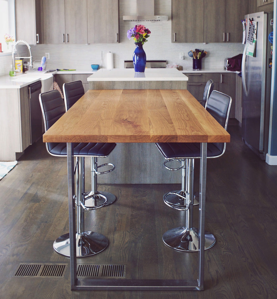 Bar height Metal table legs 'Craftsman' by Symmetry Hardware