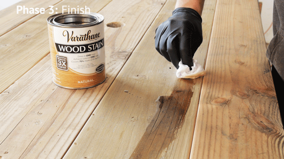 Natural color is the best stain for reclaimed wood table