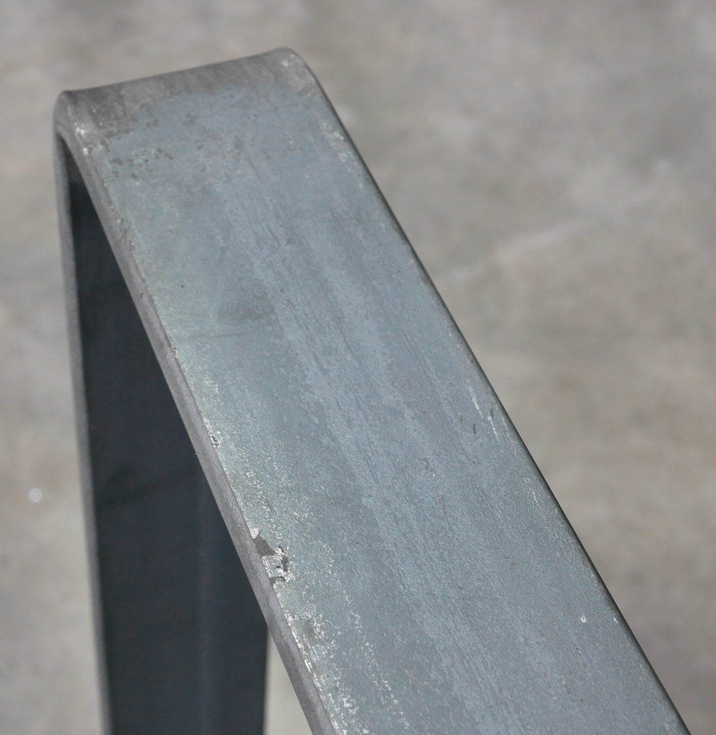 Close up of unfinished flat bar steel