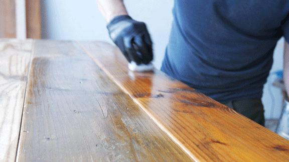 how to finish a reclaimed wood table top