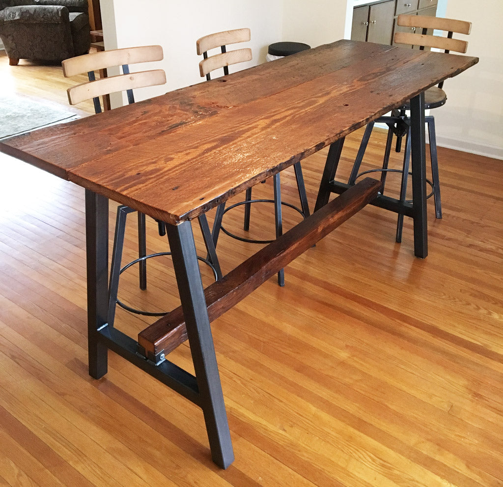 Timberline metal table base by Symmetry Hardware