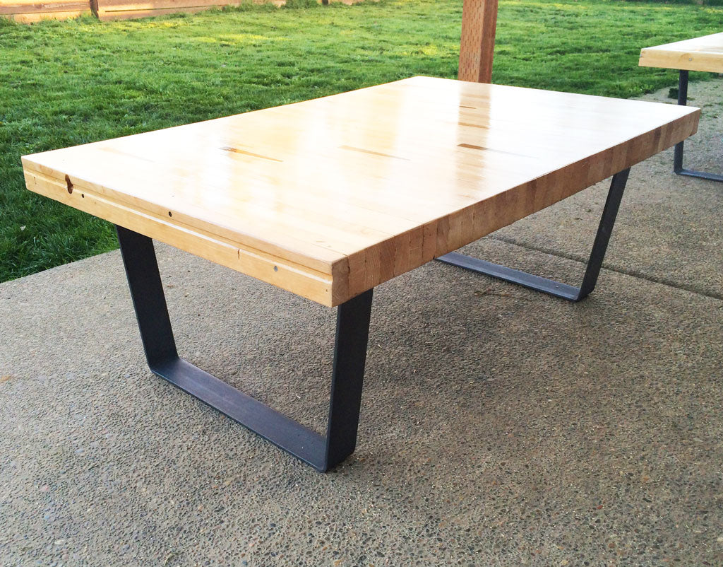 'Little Dipper' coffee table legs with clear sealant finish