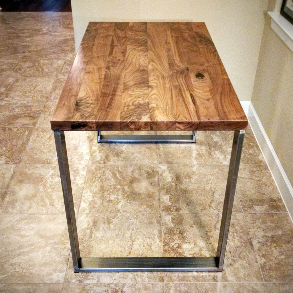 Metal table legs, 'Metro' with clear sealant finish