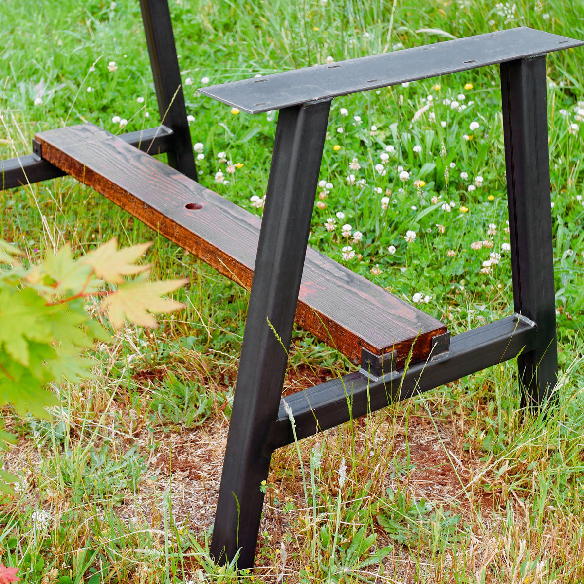 Timberline metal table base by Symmetry Hardware - 'Industrial Dark'