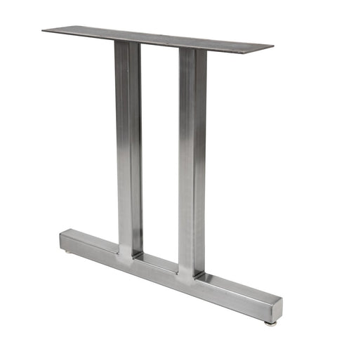 Big Duet metal dining table leg. Custom made by Symmetry Hardware