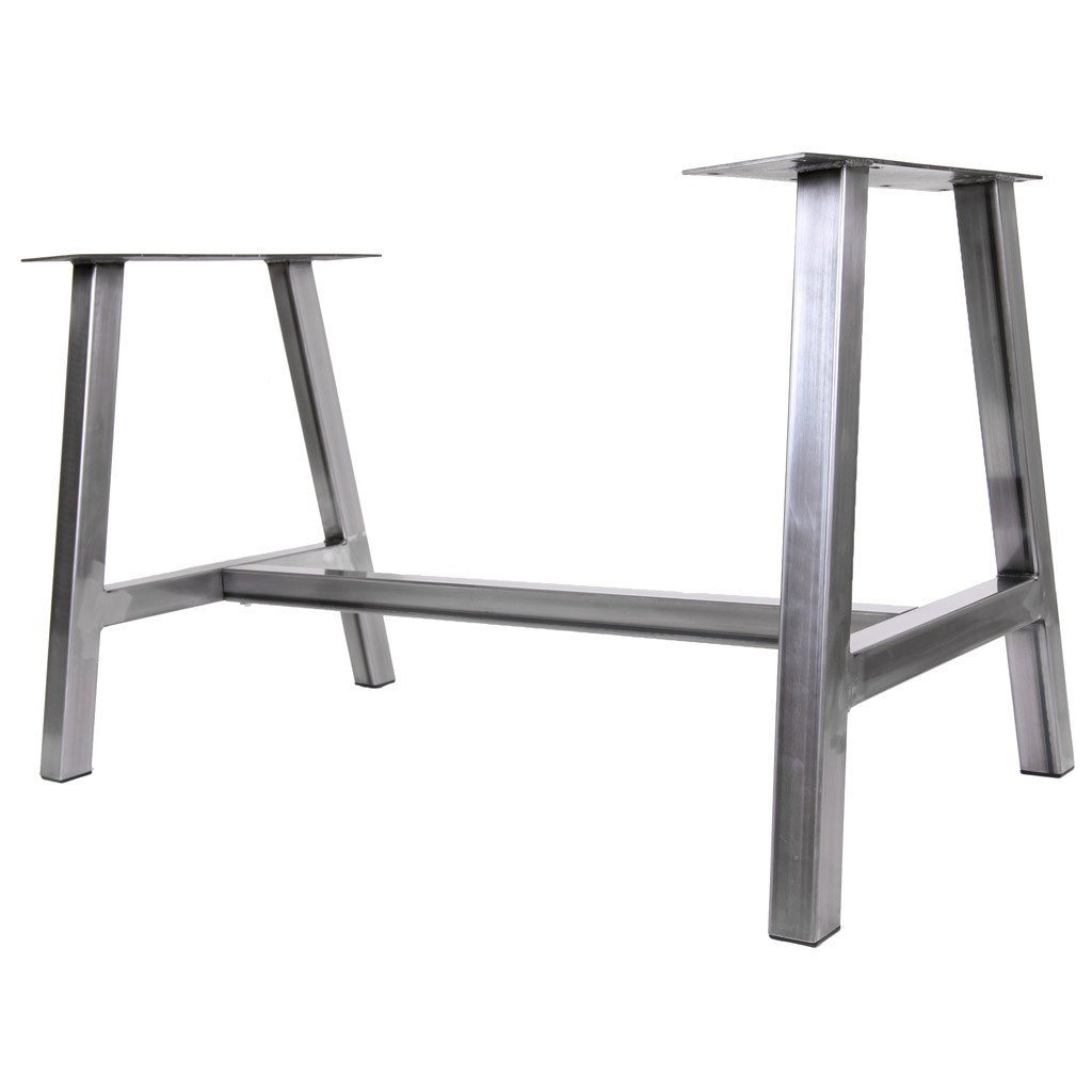 Big alpine farmhouse dining table base steel table for Dining table base