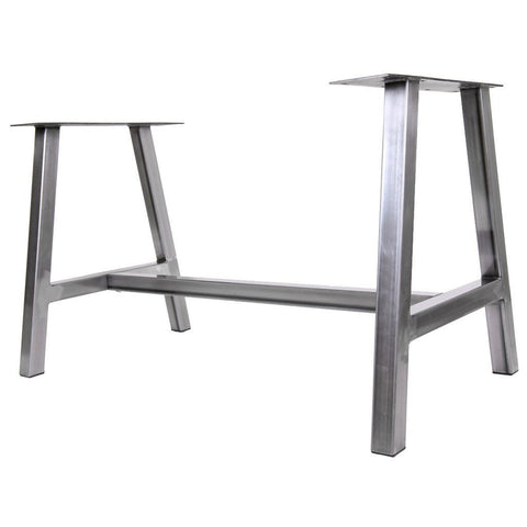Metal dining table legs by symmetry hardware steel table legs by farmhouse style table base alpine watchthetrailerfo