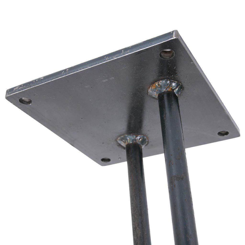 Table Mounting Plate : Big hairpin legs rod steel table by symmetry hardware