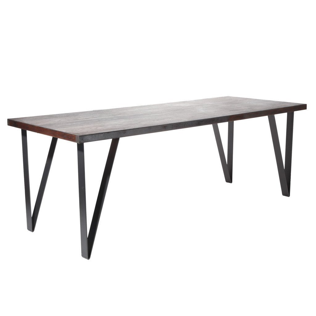 Industrial metal dining table legs by symmetry hardware
