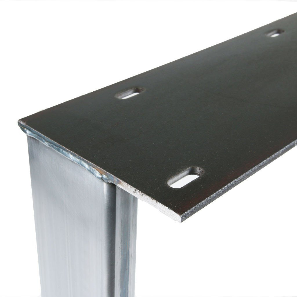 industrial table base with slotted holes