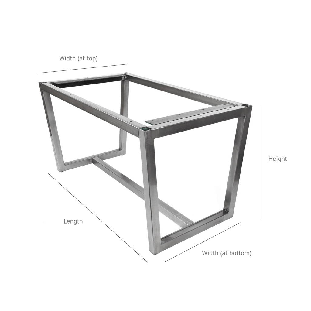 Jumbo Villa Bar Height Metal Table Base Any Size Steel Table Legs By Symmetry Hardware