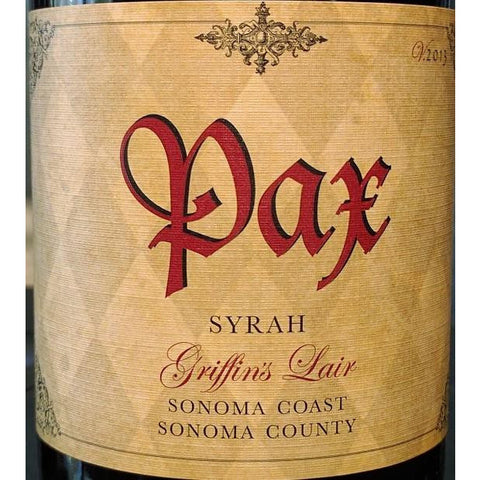 Pax Cellars Syrah Griffin's Lair 2013