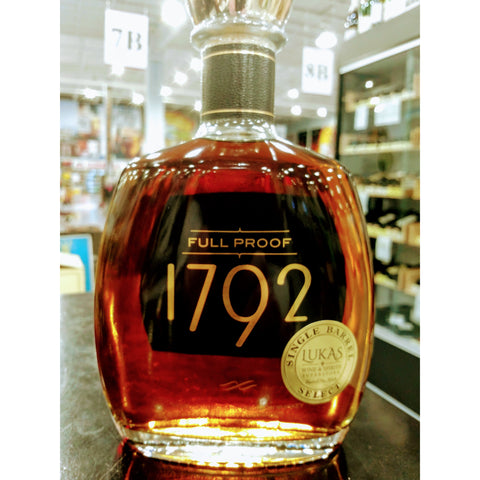 1792 Full Proof Bourbon Store Pick Single Barrel