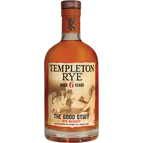 Templeton 6 Year Rye Whiskey 750ml