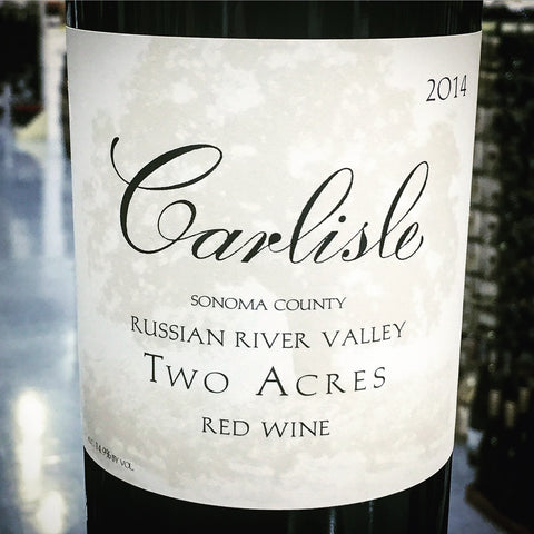 Carlisle 'Two Acre' Red Blend 2014