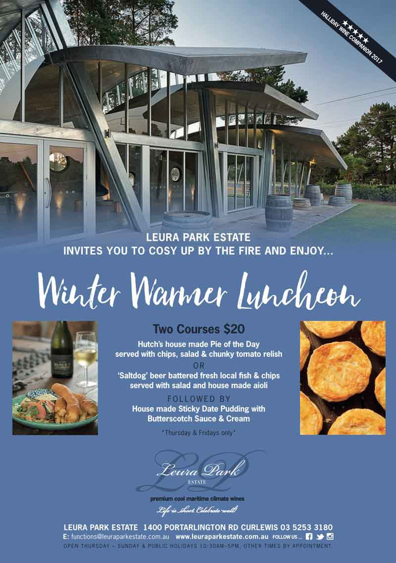 Leura Park Estate Bellarine Peninsula Winter Lunch