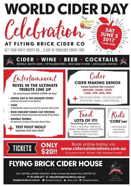 Flying Brick Cider Celebration