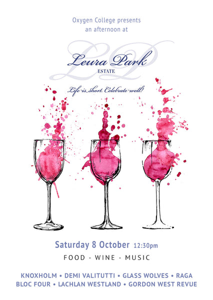 Oxygen College presents an afternoon at Leura Park Estate