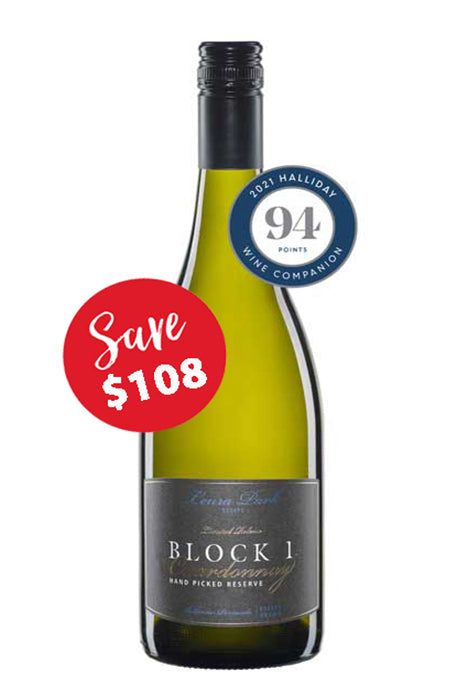 Leura Park Estate Block 1, Reserve Hand Picked Chardonnay 2018 (12 bottles)